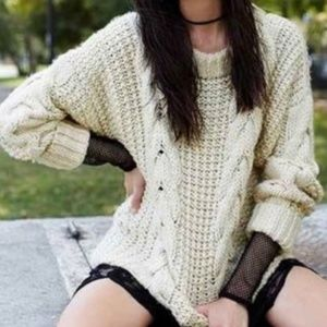 NWT UNIF Chunky Cable Knit Sweater Oversized Soft